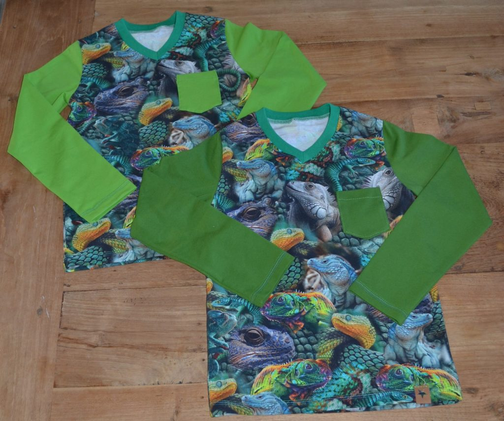 longsleeve, shirt, boys, lizard, kameleon, hagedis